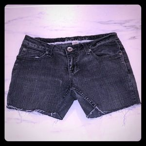Mudd Faded Black Cut Off Jean Shorts